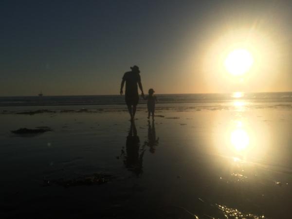 Hermine und ich am Strand
