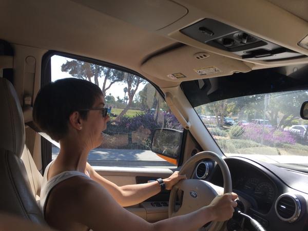 Maxi fährt den Truck :)