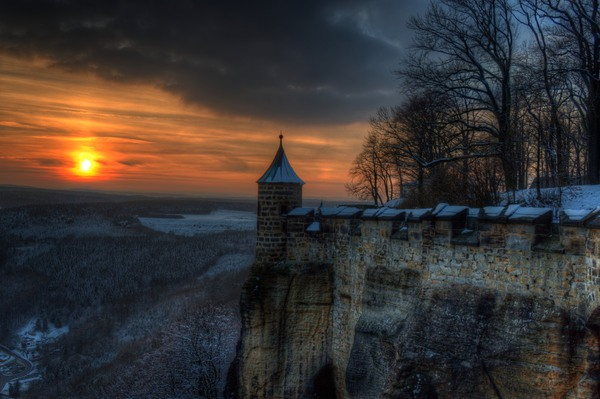 Sonnenuntergang von der Festung Königstein I