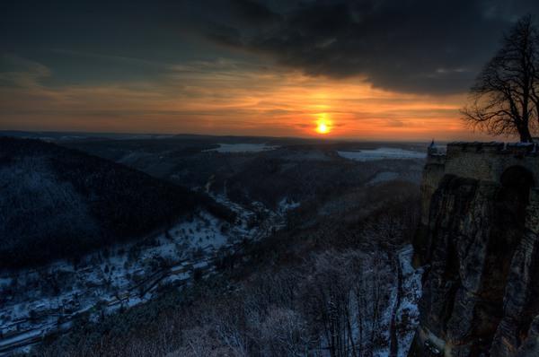 Sonnenuntergang von der Festung Königstein III