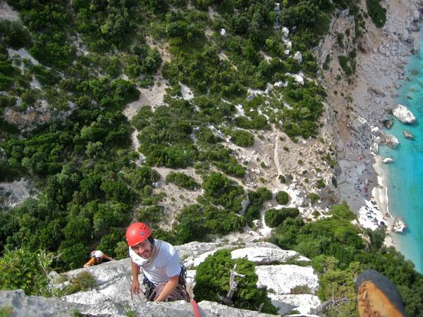 Kurz vor dem Gipfel der Aguglia