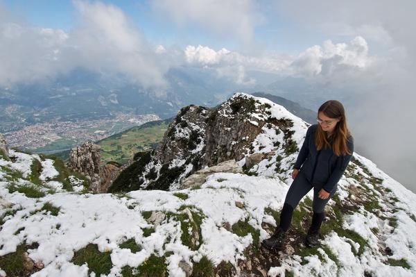 Maxi am Gipfelgrat
