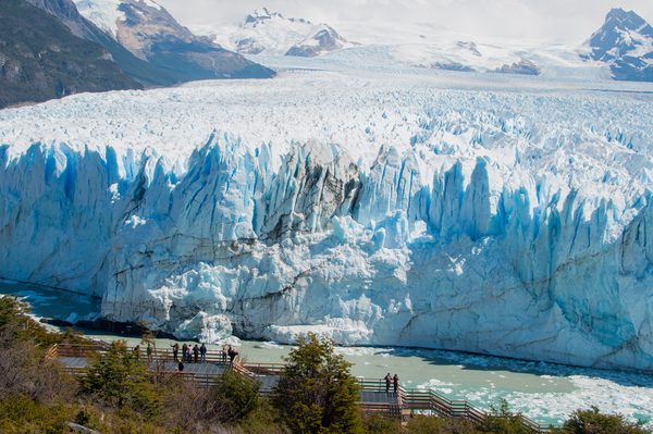 Abbruchkante des Perito Moreno-Gletschers