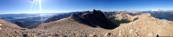 Gipfelpanorama Cerro Lopez