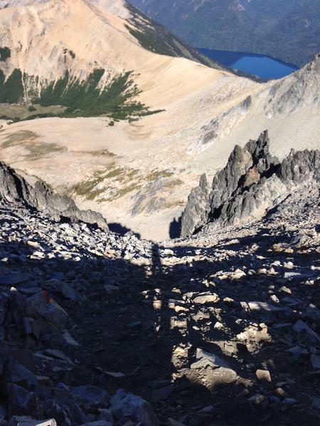 Abstieg vom Cerro Lopez