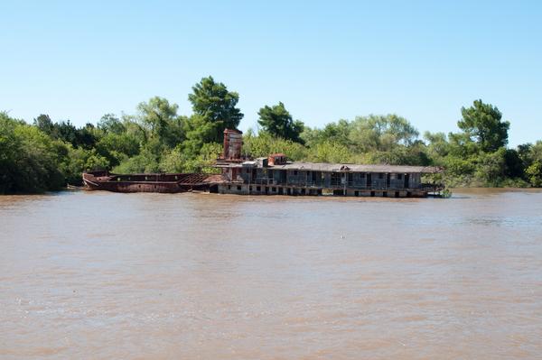 Wrack auf dem Rio Sarimento