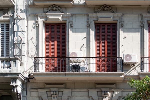 Balkon auf der Avenida de Mayo