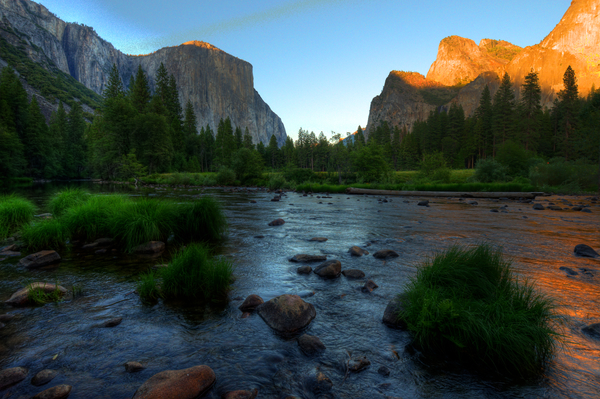 HDR des Yosemite Valley, links El Cap