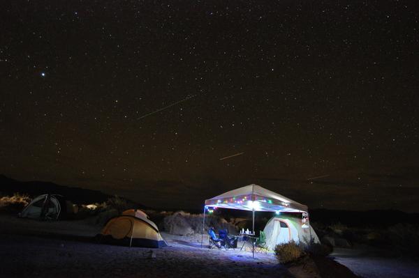 Zelte in der Nacht