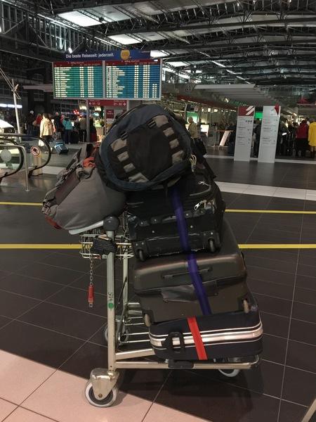 Gepäck am Dresdner Flughafen
