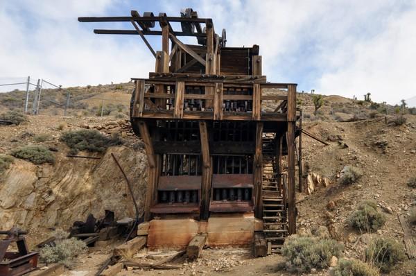 Erzzerkleinerungsanlage an der Lost Horse Mine