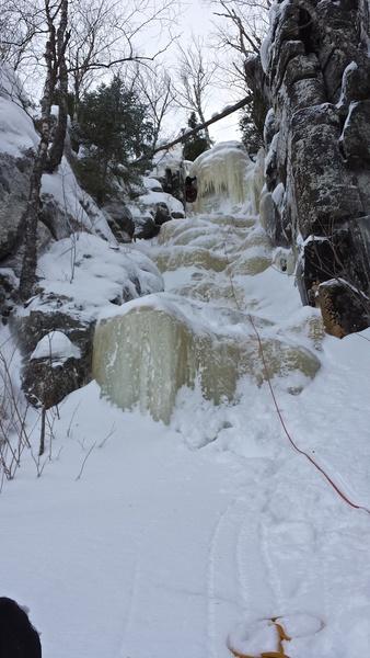 Zweite Seillänge von 'Ice Stud'