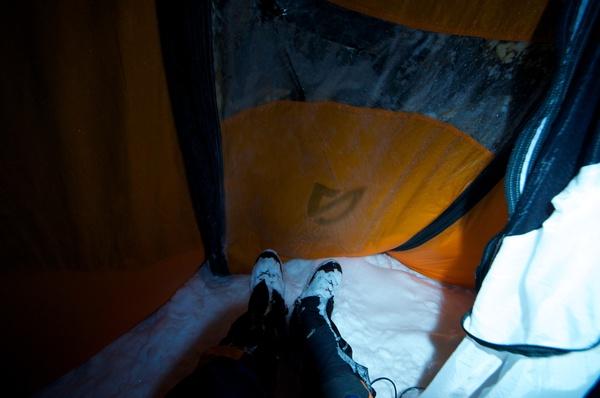 Späte Rückkehr ins Zelt am Sonntag