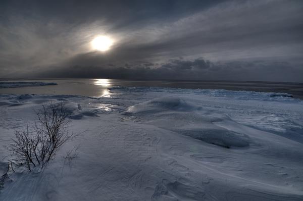 Blick auf Lake Superior von der Veranda
