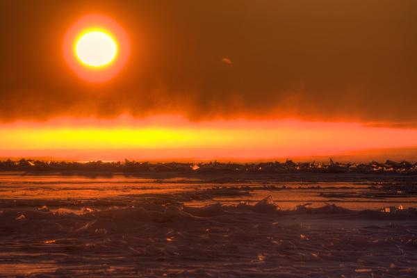 Sonnenaufgang vom Strand aus 1