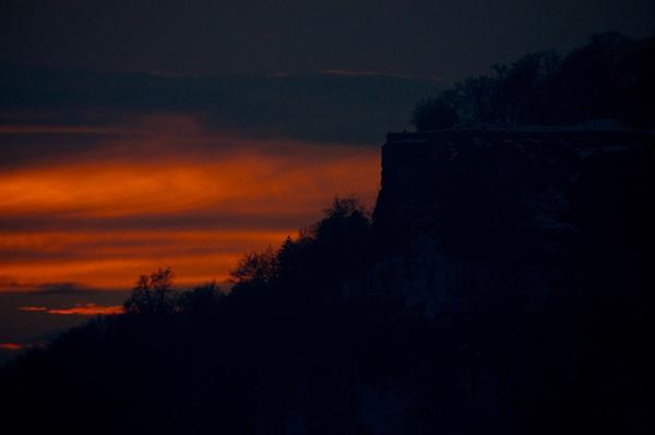 Festung mit Sonnenuntergang