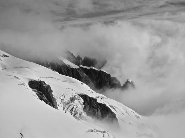 Wolken und Eis