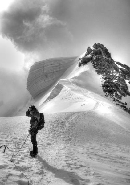 Gipfelaufbau des Mt Blanc du Tacul