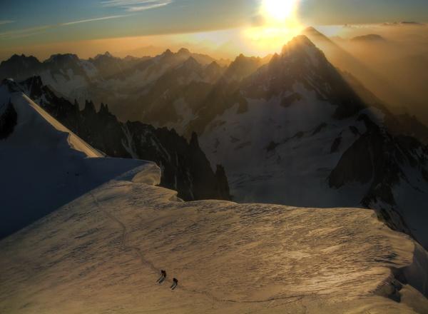 Sonnenaufgang am Col du Brenva 2