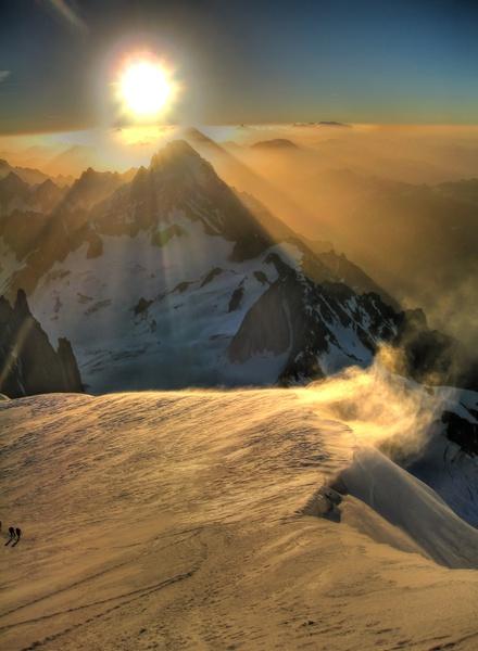 Sonnenaufgang am Col du Brenva 3