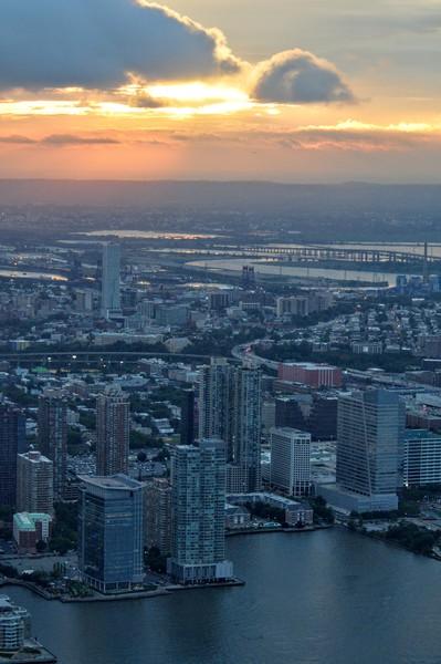 Sonnenuntergang über Jersey City