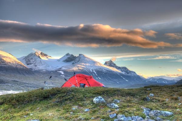 Zeltplatz nach der Wetterbesserung
