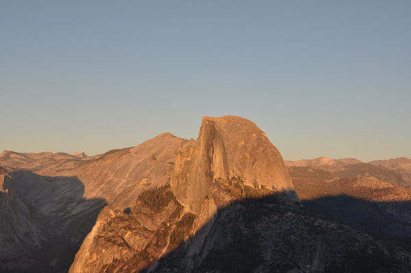 Half Dome im Sonnenuntergang