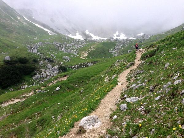 Aufstieg zum Scharnitzjoch